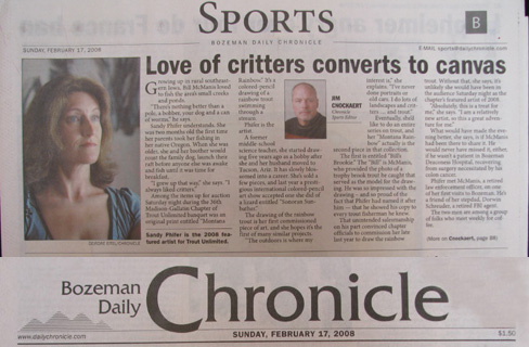 Front Page of Sports Section, Bozeman Daily Chronicle, Feb. 17, 2008