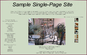 Click to view a single-page small business site